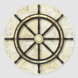 Fathers Day - Captains Wheel Classic Round Sticker