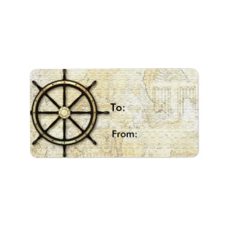 Fathers Day - Captains Wheel Label