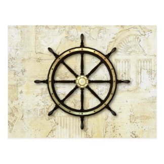 Fathers Day - Captains Wheel Postcard