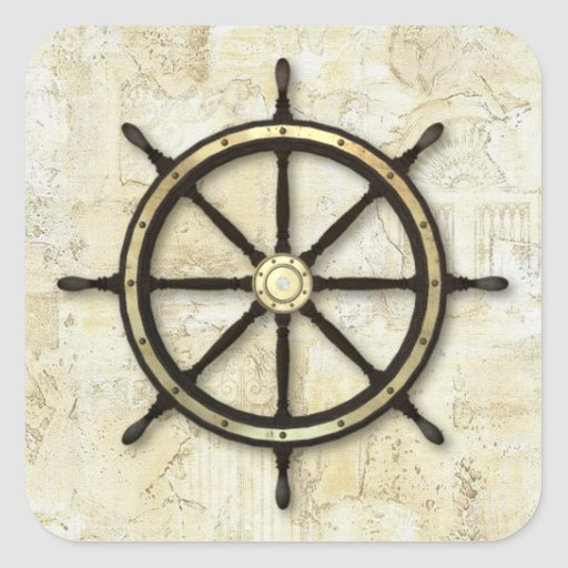 Fathers Day - Captains Wheel Sticker