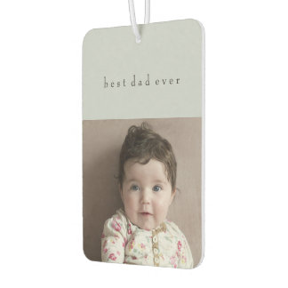 Father's Day Car Decorations 2 Photos Custom Name Air Freshener