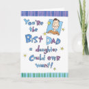 Father's Day Card - Cute Father's Day card sure to bring a smile to his face. Cards can have a custom message or can be left blank to hand write those words of love.