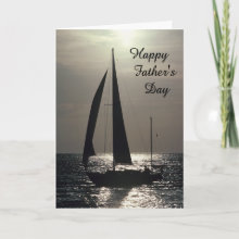 Father's Day Card - Beautiful Father's Day card with a silhouette of a sailboat in the sunset. Customize with your own text inside if you wish.