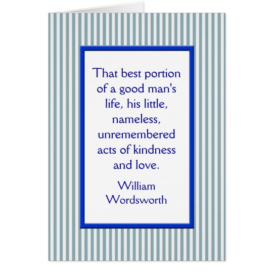 Father's Day Card, A Good Man Blue White Stripe Card