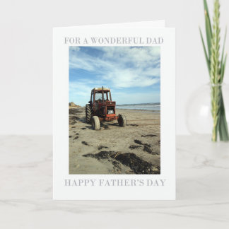 Father's Day Card - Beach Scenery Tractor