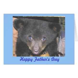Father's Day Card - Bear Cub Close-Up
