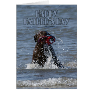 Father's Day Card - Chocolate Labrador