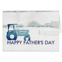 Father's Day Card: Farm Tractor Card