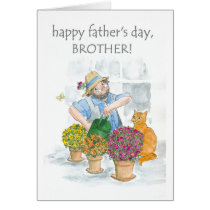 Father's Day Card for a Brother - Jolly Gardener