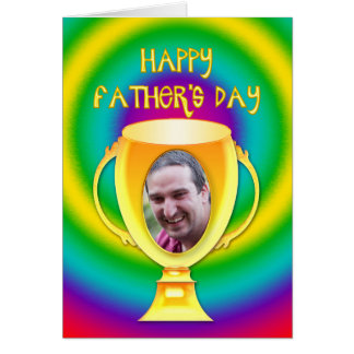 Father's day card for a winner