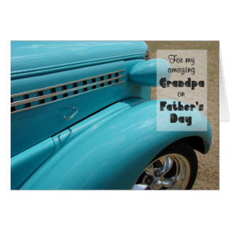 Father's Day Card for Grandpa - Hot Rod Humor