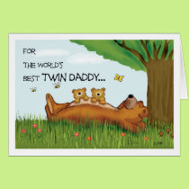 Father's Day card for Twin Dad - Best Twin Daddy