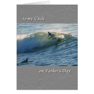 Father's Day card, for Uncle, Surfing