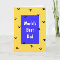 Fathers Day Card from Dog - Worlds Best Dad