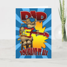 Father's Day - Funny Cartoon Card