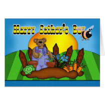Father's Day Card - Gardening Bear