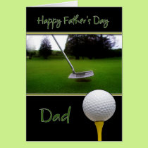 Father's Day Card - Golf