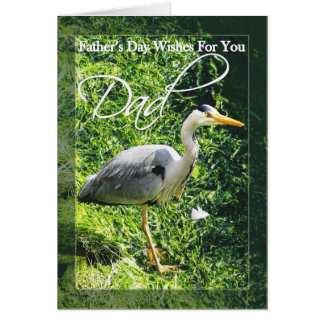 Father's Day Card Grey Heron