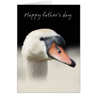 Father's Day Card - Mute Swan