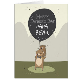 Father's day card, Papa Bear Father's Day Card