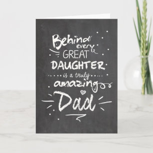 Father\'s day card Quote Daughter Chalkboard