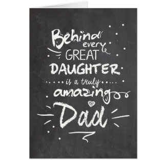 Father's day card Quote Daughter Chalkboard