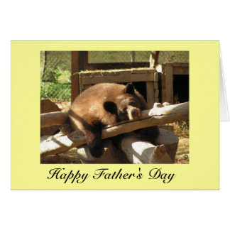 Father's Day Card - Relaxing Bear Cub