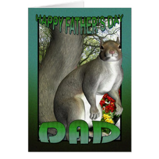 Father's Day Card Squirrel