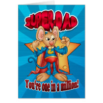 Father's Day Card - Super Dad Mouse - One In A Mil