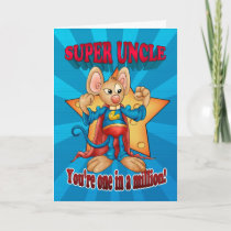 Father's Day Card - Super Uncle Mouse - One In A M