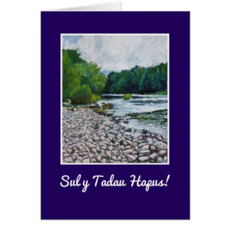 Fathers Day Card: Welsh Greeting, River Usk Card