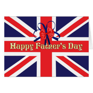 Father's Day card with a Union Jack