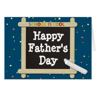 Father's Day Card with Chalk Board Message