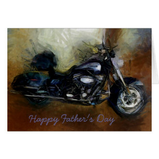 Father's Day card with Harley motorcycle