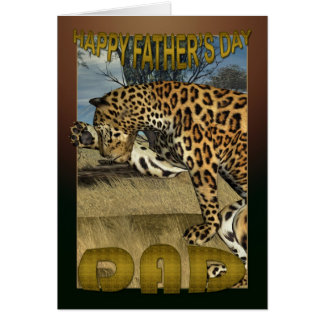 Father's Day Card with Leopard