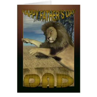 Father's Day Card with Pouncing Lion