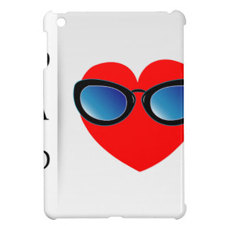 Fathers day card with red heart wearing goggles case for the iPad mini
