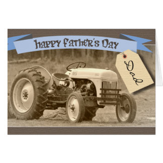 Father's Day Card with Tractor