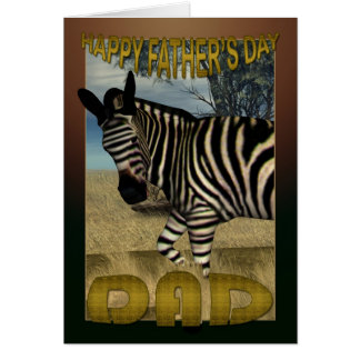 Father's Day Card with Zebra