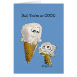 Father's Day Cartoon Ice Cream Cones Greeting Card
