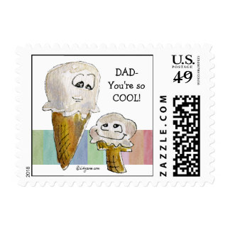Father's Day Cartoon Postage