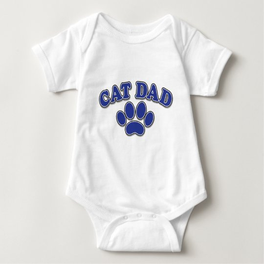 Father's Day Cat Dad Gifts Baby Bodysuit