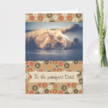 Fathers Day Cat Dad Photo Card