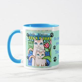 Father's Day Cat Family Coffee / Tea Mug