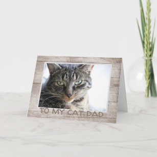 Fathers Day Cat Photo Card
