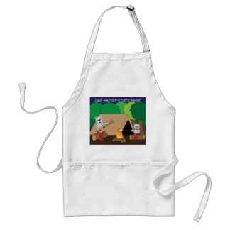Father's Day Cats Camping Adult Apron