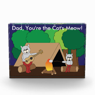 Fathers Day Cats Camping Award