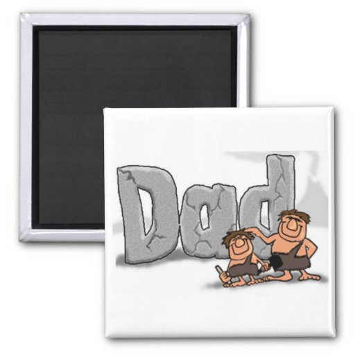 Fathers Day Caveman Dad Magnet