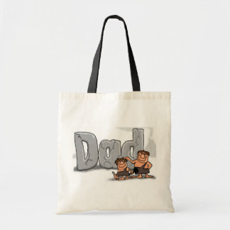 Fathers Day Caveman Dad Tote Bag