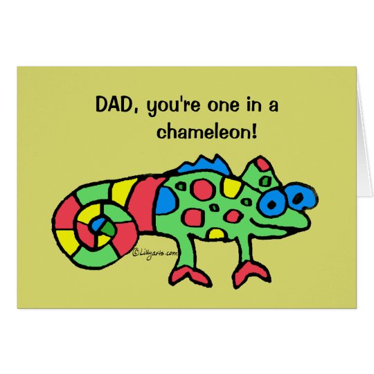 Father's Day Chameleon Card